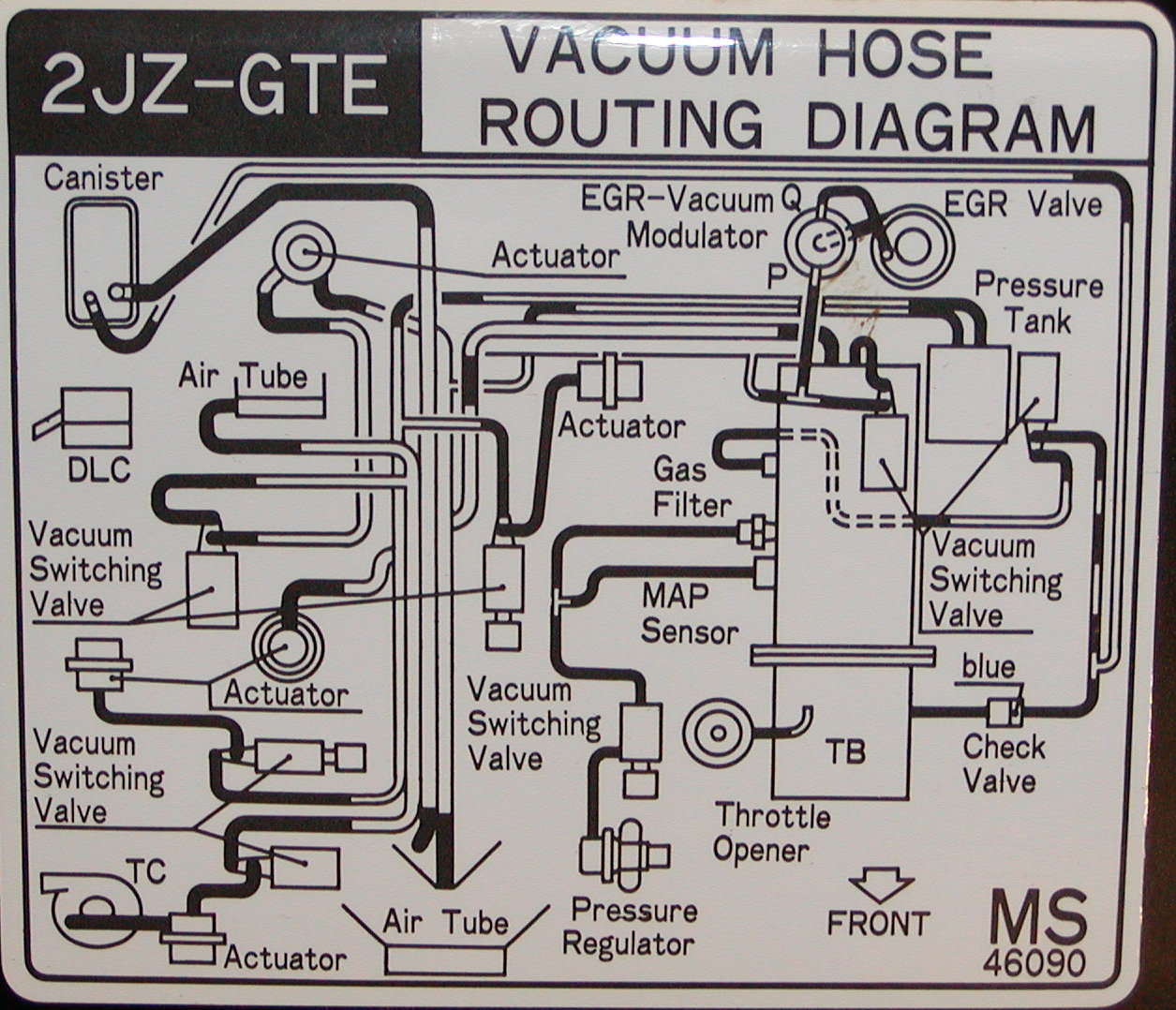 1jz Wiring Vacuum Diagram Excellent Electrical House Ignitor Gte Engine Library Rh 98 Evitta De Harness